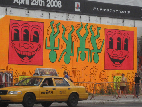 keith haring street art NYC