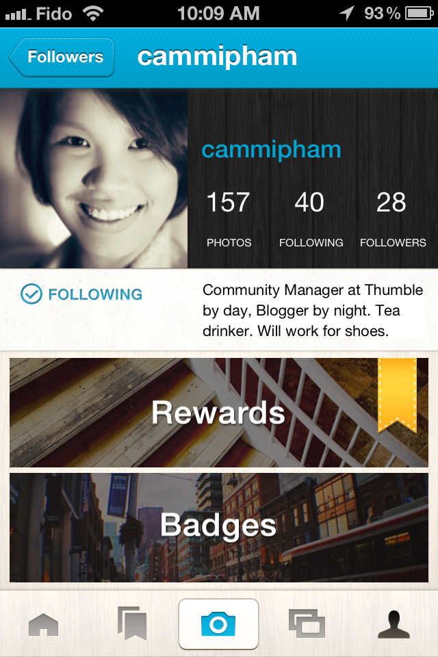 photo rewards app profile - Thumble